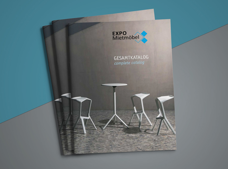 Editorialdesign: Katalog für EXPO Mietmöbel